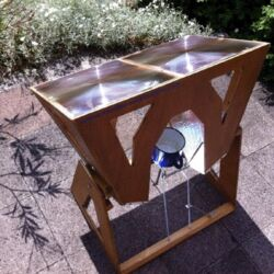 Fresnel solar cooker designs