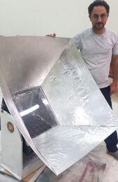 Gimbal mount on box cooker, Amir K., 11-28-17 copy