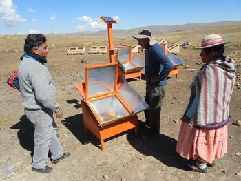 BISS adding photovoltaic to solar cooker - August 2015.jpg