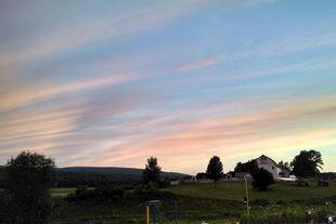 Pink sky farm