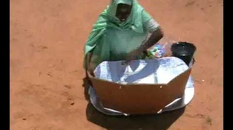 CARE Germany Solar Furnace in Chad Solaröfen für Tschad