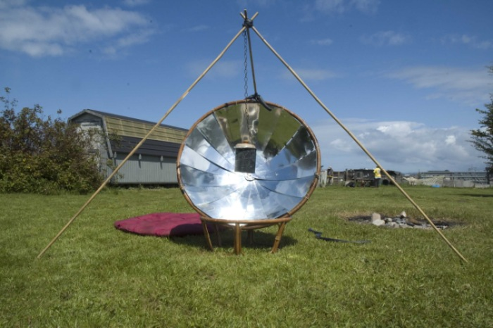 Papasan Chair Solar Cooker