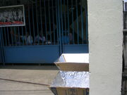 Two solar cookers at the Kong Hua School.jpg