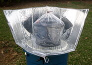 Super-size windshield shade cooker