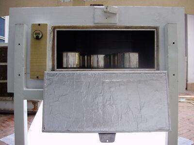 Solar Oven K5, rear door, 10-23-14