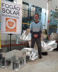 Fogao Solar display at Porto Alegre, Brazil, 8-8-19