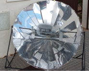 Andalusian solar cooker photo, 1-6-21