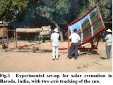 Solar crematorium