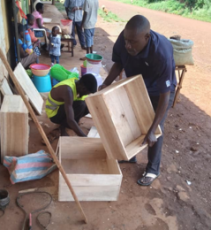 Solar box cooker production 1, Farmers With a Vision, 10-8-21
