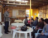 Elmo Dutra conducts a workshop in Morro da Cruz, 6-12-17
