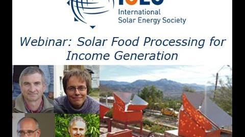 Webinar Solar Food Processing for Income Generation