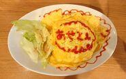 Omelet rice irl