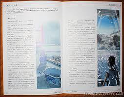 5cm/s, phụ chương novel illustration