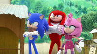 SB S1E40 Sonic Knuckles Amy smirk