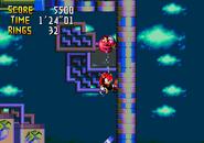 Knuckles' Chaotix - Wall Jump