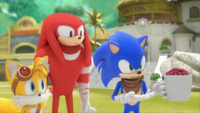 SB S1E25 Tails Knuckles Sonic berries