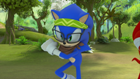 SB S1E44 Hipster Sonic fighting stance