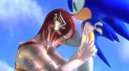 Elise curando el brazo de sonic