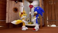 SB S1E07 Tails Sonic toilet