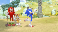 SB S1E13 Gopher Ball Knuckles Tails Sonic swing