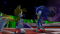 Sonic and Tails leaving Asteroid Coaster