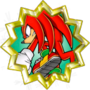 Knuckles the Echidna (he doesn't chuckle!)
