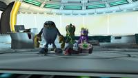 Team Sonic leaving Babylon Rogues