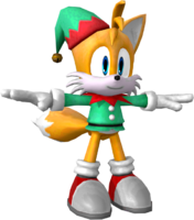 Sonic Runners Christmas Tails model