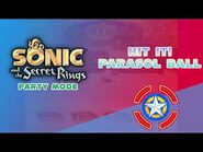 Hit it! Parasol Ball - Sonic and the Secret Rings (Party Mode)