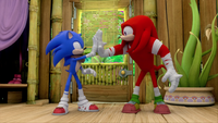 S1E41 Sonic Knuckles high five