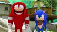 SB S1E41 Sonic Knuckles disappointed