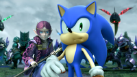 SATBK Sonic with his face stuffed