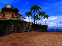 Sonic Adventure's view of Tails' Workshop