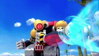 SB S1E19 Sonic spin dash Giant Robot