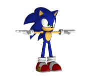 Sonic Unleashed PS3 Model Sonic