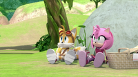 SB S1E13 Tails and Amy on a picnic