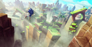 Sonic Forces Green Hill koncept