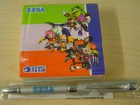 Sonic Heroes notepad