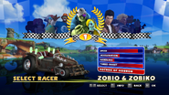 Sonic and Sega All Stars Racing character select 07