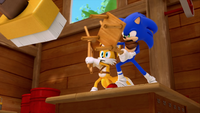 SB S1E08 Tails Sonic fight vacuum