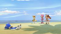 S1E11 Team Sonic beach