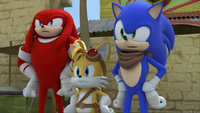 SB S1E39 Sonic Tails Knuckles