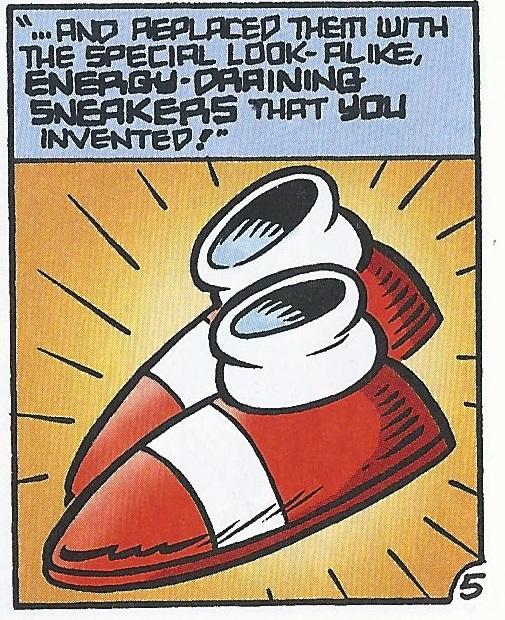 Energy-draining Sneakers