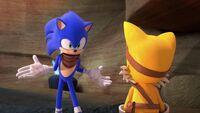 SB S1E19 Sonic shrug Tails