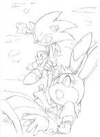 Vanilla Sonic Sonic advance 2 ending SonicX concept art