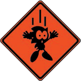 Sonic MSG warning sign red