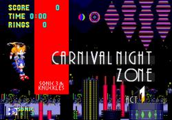 Carnival Night Zone