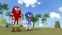 SB S1E13 Knuckles Sonic watch