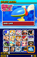 Sonic and Sega All Stars Racing DS character select 20