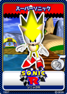 Sonic R 10 Super Sonic card